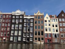 De flats van Amsterdam Stock Afbeelding