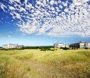 De flats van een Huisvesting bij lang Strand Washington Royalty-vrije Stock Foto's