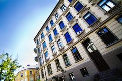 De flats van Oslo Stock Afbeeldingen