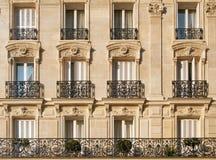 De flats van Parijs Stock Afbeeldingen