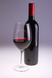 De fles en het glas van de wijn Stock Afbeelding