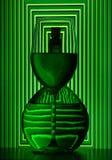 De fles en het glas van de wijn Royalty-vrije Stock Foto's