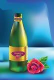 De fles en nam toe Royalty-vrije Stock Afbeelding