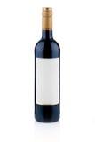 De fles rode wijn Stock Foto