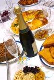 De Fles van Champagne Stock Afbeelding