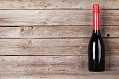 De fles van Champagne stock foto's