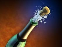 De fles van Champagne