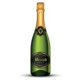 De fles van Champagne Stock Afbeeldingen