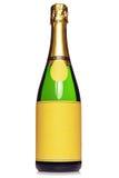 De fles van Champagne die op wit wordt geïsoleerdc Stock Afbeelding