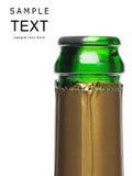 De fles van Champagne die op wit wordt geïsoleerdn Royalty-vrije Stock Foto's