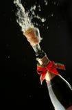 De fles van Champagne klaar voor viering Royalty-vrije Stock Afbeeldingen