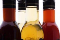 De fles van de azijn Royalty-vrije Stock Afbeeldingen