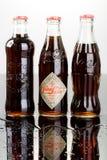 De fles van de coca-cola Stock Afbeeldingen