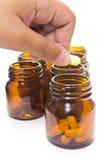 De fles van de drug stock foto