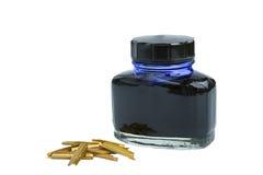 De fles van de inkt Stock Foto
