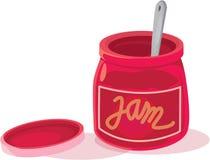 De fles van de jam stock illustratie
