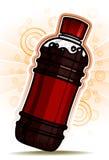 De Fles van de kola met de achtergrond van de Cirkel Stock Foto