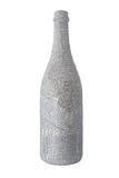 De fles van de krant die op wit wordt geïsoleerd Royalty-vrije Stock Afbeelding