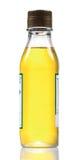 De fles van de lijnzaadolie royalty-vrije stock foto's