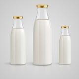 De fles van de melk Stock Foto's