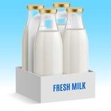 De fles van de melk Royalty-vrije Stock Foto