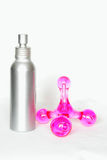 De fles van de nevel en massagehulpmiddel Stock Afbeeldingen