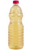 De fles van de olie isolaten op witte achtergrond Stock Fotografie