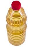 De fles van de olie isolaten op witte achtergrond Stock Afbeelding