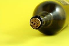 De fles van de wijn stock afbeelding