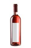 De fles van de wijn die op wit wordt geïsoleerd. Stock Fotografie