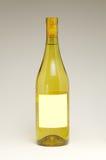 De Fles van de wijn met leeg etiket royalty-vrije stock fotografie