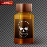 De fles van de geneeskunde met giftige vloeistof royalty-vrije illustratie
