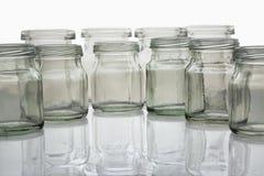 De fles van glazen Stock Afbeeldingen
