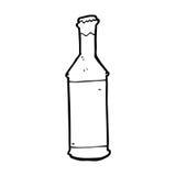 de fles van het beeldverhaalbier royalty-vrije illustratie
