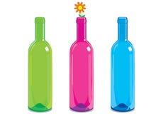 De fles van het glas royalty-vrije illustratie