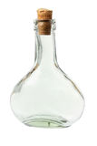 De Fles van het glas stock foto's