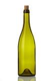 De fles van het glas die op Wit met cork wordt geïsoleerdÀ Stock Foto's