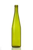 De fles van het glas die op Wit wordt geïsoleerdi Stock Afbeeldingen