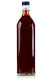 De fles van het glas met. Stock Afbeeldingen