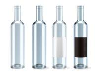 De fles van het glas met etiket Royalty-vrije Stock Fotografie