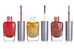 De fles van het nagellak Royalty-vrije Stock Afbeeldingen
