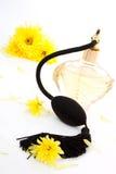 De fles van het parfum. Stock Foto