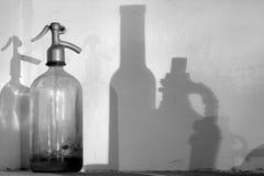 De fles van het sodawater stock afbeelding