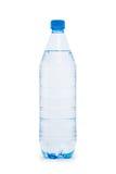 De fles van het water die op wit wordt geïsoleerdh Royalty-vrije Stock Fotografie
