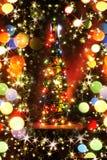 de fles van de Kerstmisalcohol Stock Fotografie