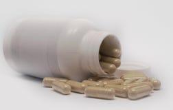 De Fles van pillen Stock Afbeelding