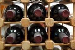 De fles van wijnen Stock Fotografie