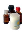 De flesjes met geneeskunde Stock Afbeelding