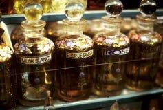 De flessen Tunesië van het parfum Stock Afbeelding