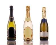 De flessen van Champagne Royalty-vrije Stock Afbeeldingen